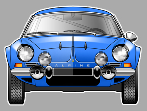 Sticker ALPINE A110 BERLINETTE : Couleur Course