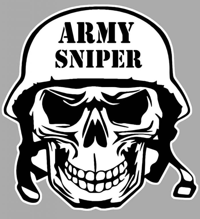 Sticker ARMY SNIPER : Couleur Course