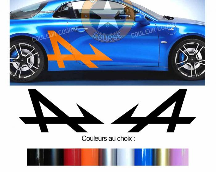 Sticker ALPINE RENAULT A110 : Couleur Course