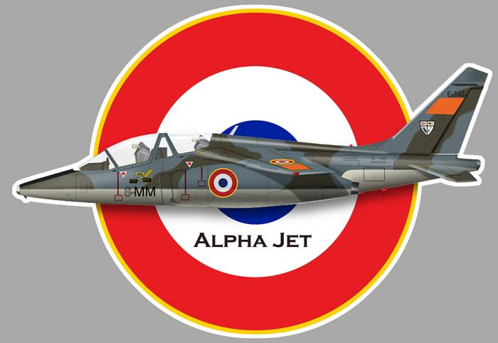 Sticker ALPHA JET FRANCE : Couleur Course