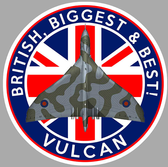 Sticker AVRO VULCAN  : Couleur Course