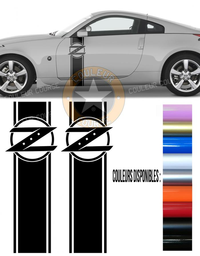Sticker BANDES NISSAN 350 Z : Couleur Course