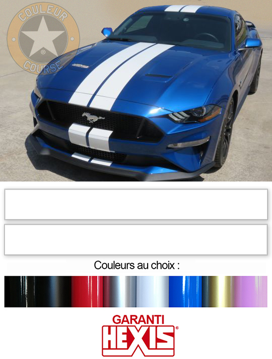 Sticker BANDES FORD MUSTANG : Couleur Course