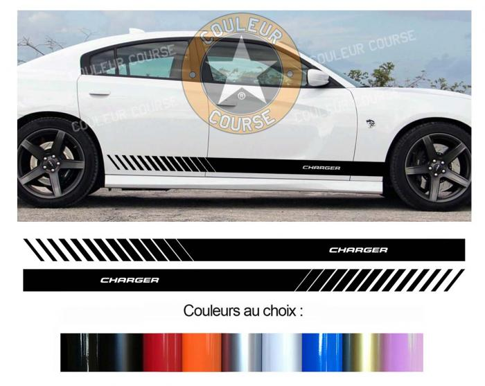 Sticker BANDES DODGE CHARGER : Couleur Course