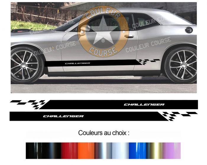 Sticker BANDES DODGE CHALLENGER : Couleur Course