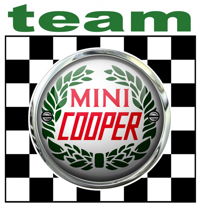 Sticker MINI COOPER TEAM : Couleur Course