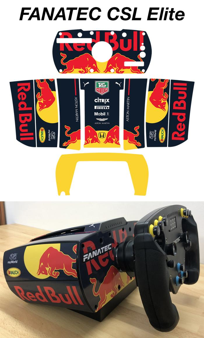 Sticker RED BULL FORMULE 1 VOLANT FANATEC CSL SKIN : Couleur Course
