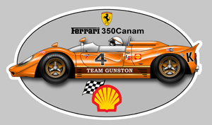 Sticker FERRARI 350 CANAM GUNSTON : Couleur Course
