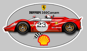 Sticker FERRARI 350 CANAM : Couleur Course