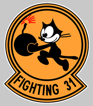 Sticker F14 TOMCAT FIGHTING 31 : Couleur Course