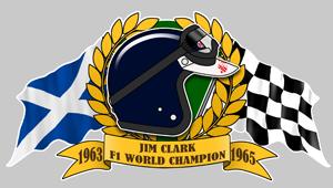 Jim CLARK F1 WORLD  Champion Sticker