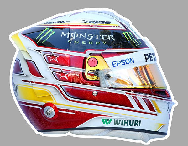 Sticker LEWIS HAMILTON : Couleur Course