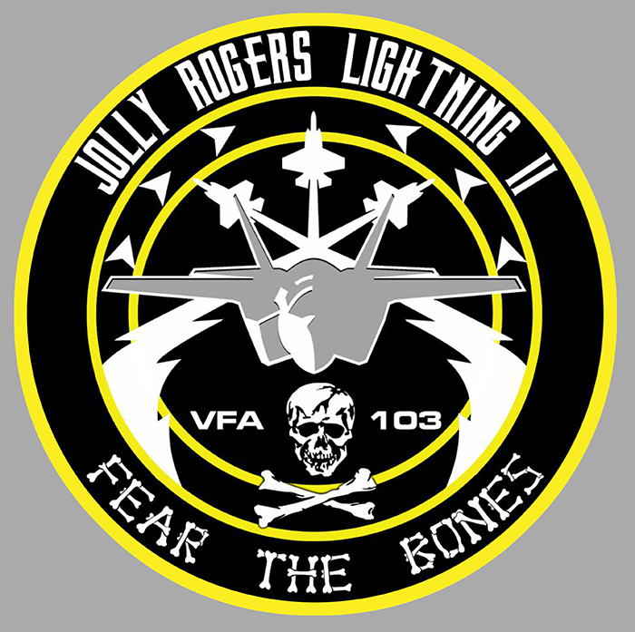 Sticker JOLLY ROGERS 103 LIGHTNING 2 : Couleur Course