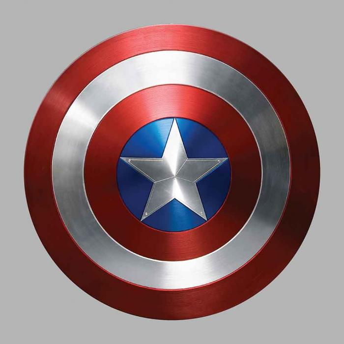Sticker CAPTAIN AMERICA : Couleur Course