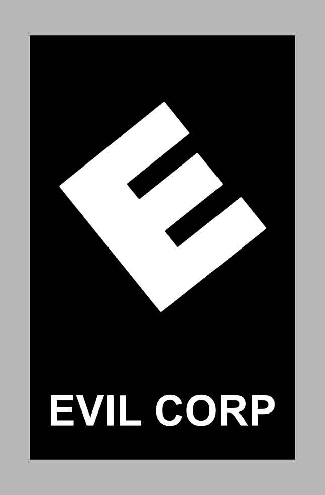Sticker EVIL CORP MR ROBOT : Couleur Course