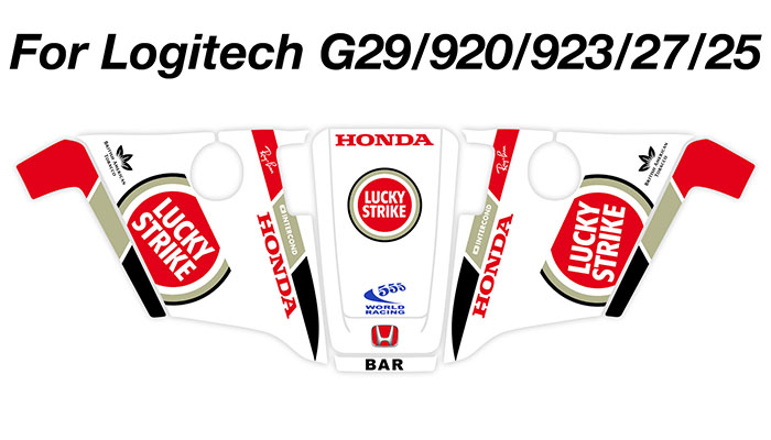 Sticker BAR HONDA F1 VOLANT LOGITECH G29 / G920 SKIN : Couleur Course
