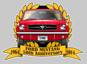 Sticker FORD MUSTANG MA110 : Couleur Course