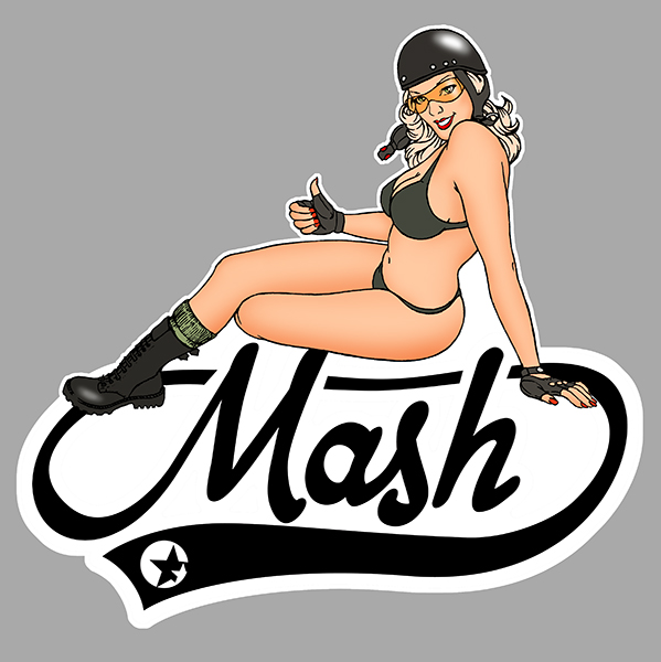 Sticker MASH PINUP : Couleur Course