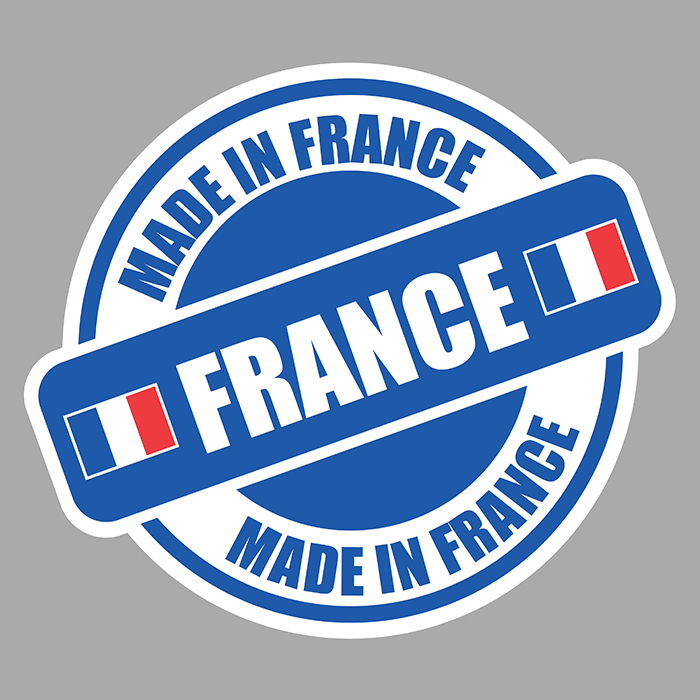 Sticker MADE IN FRANCE : Couleur Course