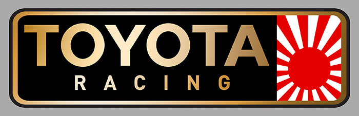 Sticker TOYOTA RACING : Couleur Course