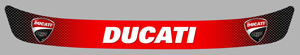 Sticker VISIERE DUCATI : Couleur Course