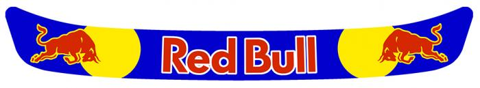 Sticker VISIERE RED BULL : Couleur Course