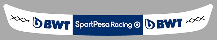 Sticker VISIERE SERGIO PEREZ RACING POINT : Couleur Course