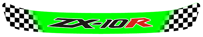 Sticker VISIERE KAWASAKI ZX10R : Couleur Course