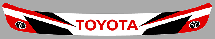 Sticker VISIERE TOYOTA : Couleur Course
