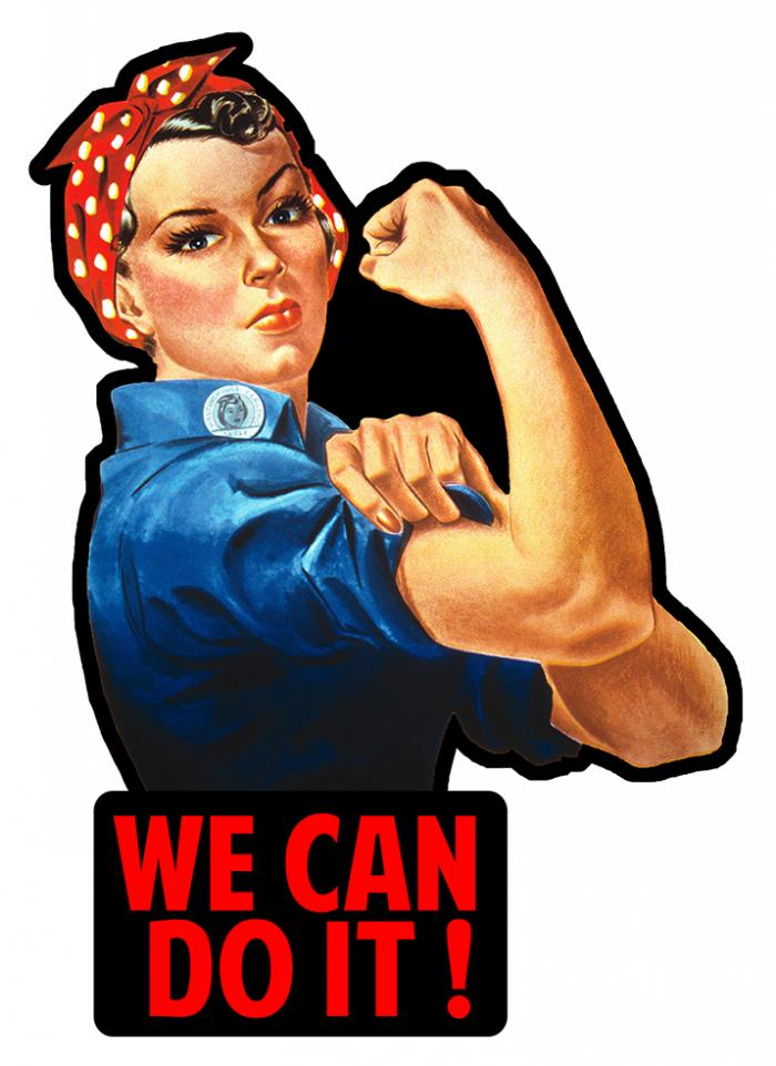 Sticker PINUP WE CAN DO IT : Couleur Course