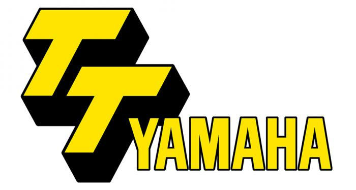 Sticker TT YAMAHA  : Couleur Course